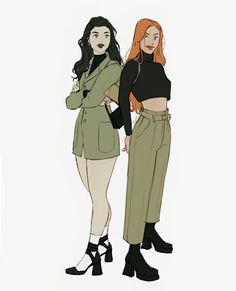 Character Outfits, Character Art, Character Design, Anime Character Drawing, Pretty Art, Cute Art, Kim X Shego, Cartoon Outfits, Bff