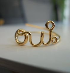 OUI Ring 14K Gold Filled by StreetBauble on Etsy, $42.00
