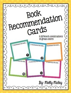 I have been using book recommendation cards in my classroom for several years, and my students love them! They truly enjoy recommending books theyve read to their classmates, as well as reading books that their classmates recommend!These cards can be used in many ways:1.