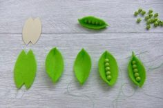 DIY Felt green peas #feltfood #tutorial