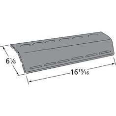 """Dimension Front-to-Back: 16-13/16""""'  Dimension Side-to-Side: 6-1/8""""   Compatible / Fits with Models : Aussie : 6112S8X641 , 6122S8X641 , 6212S00T91 , 6212S00T91001484 Char-Broil : 463420511 , 463612509 , 463620410 , 463620511 , 463631009 , 463631810 Thermos : 461630208 , 461630509 , 461630710."""