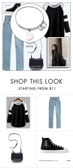 """""""1162"""" by melanie-avni ❤ liked on Polyvore featuring Vetements, Ann Demeulemeester and Alex and Ani"""