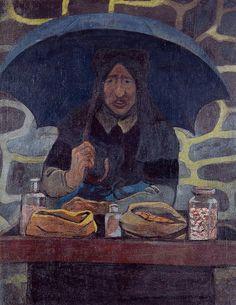 The Candy MerchantbyPaul Serusier   Medium: oil on canvas
