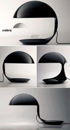 """Cobra"" lamp by Elio Martinelli"