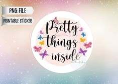 Printable Stickers, Printable Planner, Printable Wall Art, Printables, Happy Mail, Seals, Butterfly, Inspirational Quotes, Group