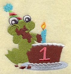 Hoppy First 1st Birthday Embroidered Flour by EmbroideryEverywhere, $13.99