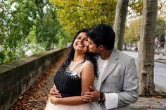 Couple kiss in romantic honeymoon photo in Paris by TripShooter Paris photographer Pierre Turyan