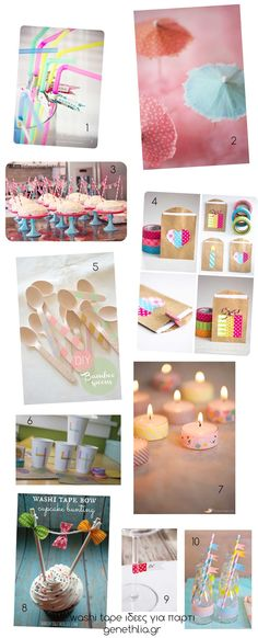 washi tape δεκα ιδεες για παρτι - 10 great party ideas with washi-tape