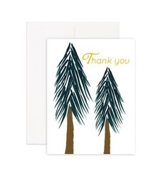 Thank You Tree Greeting Card Printed on 100% recycled paper, blank inside.