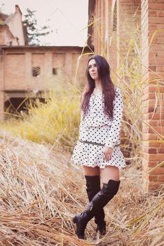 polka dot dress - Oh My fashion Blog!