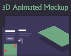 3D Animated Mockup #3D #animation #CSS3 #css #3Danimation #jQuery #anmiated #mockup #showcase #template