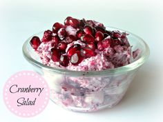 Cranberry Salad- Thanksgiving is 1 month from today! If you only make one thing this Thanksgiving you have to make this Cranberry Salad! It is SO good! I can't wait to make it again!