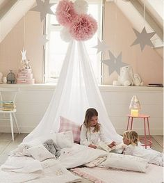 Cute Canopy Reading Nook Inspiration for Small Room - The Urban Interior Baby Bedroom, Girls Bedroom, Bedroom Ideas, Canopy Bedroom, Door Canopy, Canopy Tent, Ikea Canopy, Beach Canopy, Canopy Curtains