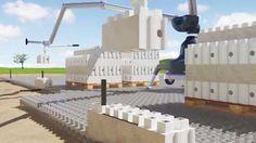LEGO-like buildign, LEGO building blocks, LEGO construction technique, green technology, building technology, Kite Bricks, Smart Bricks, concrete building material, modular building