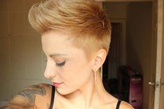 blonde faux hawk,I remember my faux hawk:)
