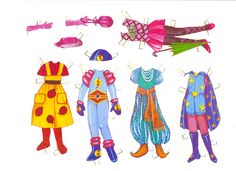 Karnival paper doll clothes from Finland