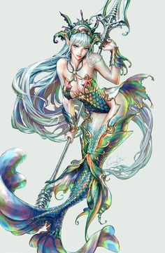 18 ideas for fantasy art mermaid tattoos Fantasy Girl, Chica Fantasy, Fantasy Mermaids, Mermaids And Mermen, Mermaid Artwork, Mermaid Drawings, Mermaid Tattoos, Drawings Of Mermaids, Mermaid Paintings