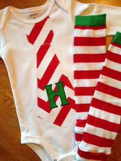 Holiday Christmas Personalized Embroidery Baby Boy Tie Onesie with Mathching Leg Warmers SET for Little Man - Baby Clothing on Etsy, $31.95