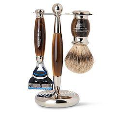 Taylor of Old Bond Street 3-Piece Gillette Fusion Shaving Set, Imitation Horn                                                                                                                                                                                 Más