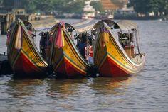 Water taxis in Bangkok, Thailand