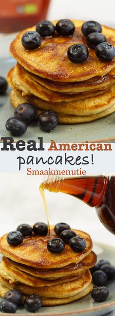 Real American pancakes #recept #american #pancakes #brunch #lunch