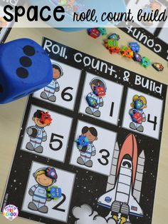 Space Centers & Activities for Little Learners - Pocket of Preschool Space Theme Preschool, Preschool Science, Science Education, Physical Education, Preschool Teachers, Space Games, Space Activities, Transportation Activities, Science Activities
