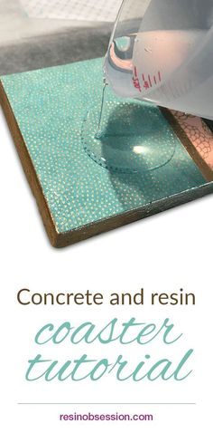 Concrete and Resin Coaster Tutorial - Resin Obsession Jean Beck Crafts for selling concrete and resin coaster tutorial. I'm thinking of all the variations on a theme. Concrete Jewelry, Concrete Crafts, Concrete Art, Concrete Projects, Resin Jewelry, Craft Jewelry, How To Make Coasters, Diy Coasters, Photo Coasters