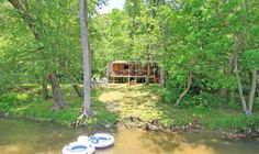 Asheville Vacation Rental - VRBO 138512 - 1 BR Smoky Mountains Cabin in NC, Private Island Cabin on French Broad River