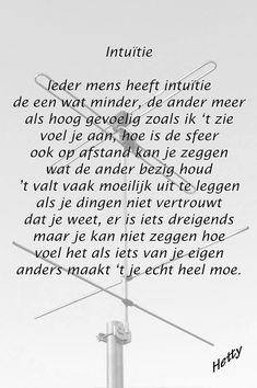 HSP gedicht - Intuitie