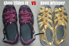 Travel Sandal Comparison: Keen Whisper vs Ahnu Tilden IV - Her Packing List Her Packing List, Suitcase Packing, Socks And Sandals, Backpack Reviews, Travel Shoes, Outdoor Outfit, Hiking Shoes, Velcro Straps, Travel Backpack