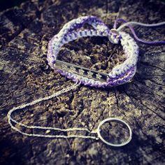 Unusual purple bracelet - you can write on it a secret message