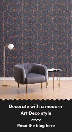 6 Art Deco Wallpapers To Create A Luxurious Interior Art Deco Wallpaper, Modern Wallpaper, Dark Wallpaper, Pink And Green Wallpaper, Living Room Themes, Modern Art Deco, Chrysler Building, Art Deco Design, Luxury Interior
