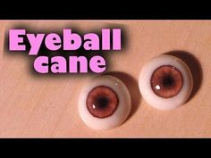 ▶ Polymer clay glass like doll eyes (eyeball cane tutorial) - YouTube by…