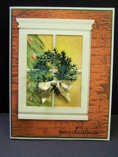 Christmas wreath on MB window