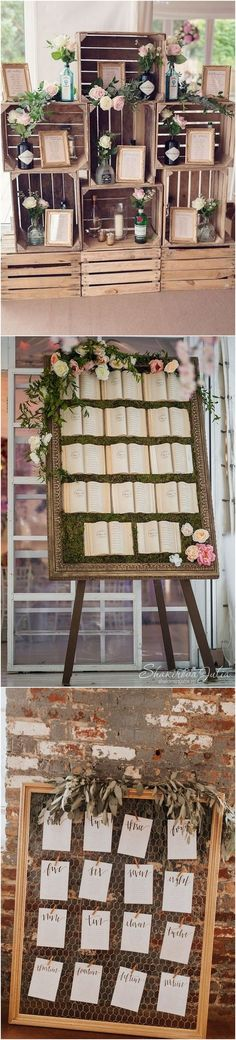 chic vintage rustic wedding seating chart ideas 6 Images Via: Bridal Musings / Wedding Wire / Junebug Weddings / Brides / The Knot / Mod Weddings / Mon Cheri Bridals / The Overwhelmed. Rustic Seating Charts, Rustic Wedding Seating, Ceremony Seating, Seating Chart Wedding, Bridal Musings, Bridal Party Tables, Rustic Shabby Chic, Wedding Decorations, Wedding Ideas