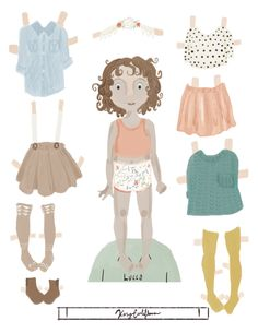 Paper Doll Illustration of Lucca from @yo_saba_saba on instagram by Kasey cauliflower