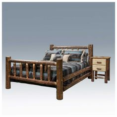 of montana woodworks piece log bedroom set in glacier country country log bedroom : log bed frame country western rustic