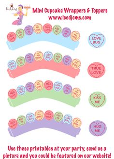 Free Valentines Party Printables – Love Hearts
