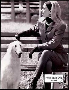 Henri Bendel Fashion Russian Borzoi Wolfhound (1990)