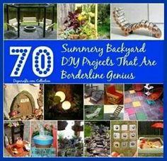 70 Summery Backyard DIY Projects...............