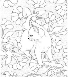 Bluecat Gallery - Adult coloring books by Jason Hamilton Abc Coloring Pages, Abstract Coloring Pages, Dog Coloring Page, Coloring Book Art, Flower Coloring Pages, Coloring Sheets, Mandala Coloring, Cat Quilt, Cat Colors