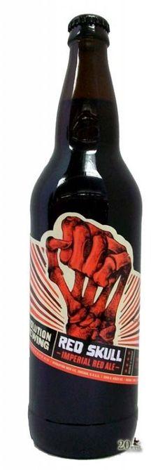 Cerveja Revolution Red Skull Imperial Red Ale, estilo American Amber Ale, produzida por Revolution Brewing , Estados Unidos. 8.38% ABV de álcool.