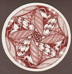 Zendala tile (prestrung) by Kathy Redmond