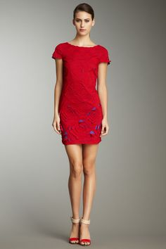 Allover Embroidered Dress by Catherine Malandrino.