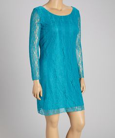 Look what I found on #zulily! Jade Lace Shift Dress - Plus by Star Vixen #zulilyfinds