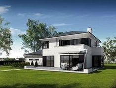 DOM.PL™ - Projekt domu PE Przemek CE - DOM NS1-31 - gotowy koszt budowy Facade House, Design Case, Home Fashion, Mansions, House Styles, Home Decor, Two Story Houses, Rolling Carts, My Dream House