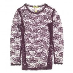 Downeast Girl Girls 7-16 'Little Lace Lover' Long Sleeve Top
