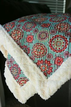 This Old Chair - fabulous chenille blanket