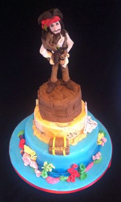 Jack sparrow, Pirates of the Caribbean cake