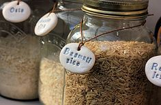 Idea for labeling jars using the fimo dough and stamps